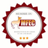 Membre du mouvement francophone des éducateurs canins